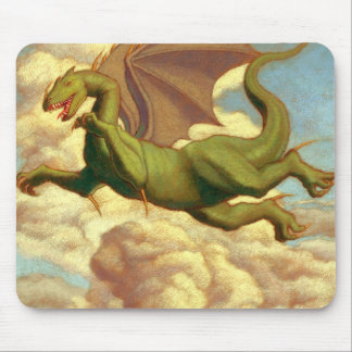 Summer dragon mouse pad
