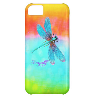 Summer Dragonfly Rainbow Bright Decorative iPhone 5C Case