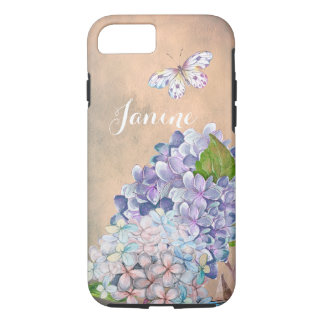 Summer Dream Lilac-Blue Hydrangea Blossom iPhone 8/7 Case