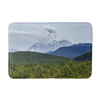 Summer eruption active volcano bath mat