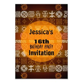Summer Ethnic 16th Birthday Party Invitation