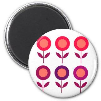 Summer ethno  Flowers on white Magnet