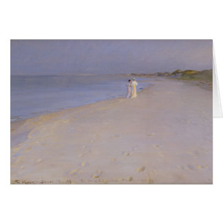 Summer evening at the South Beach, Skagen, 1893 Card