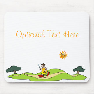 Summer Exercise Funny Mousepad