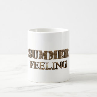 Summer Feeling Elegant Gold Look Typography Coffee Mug