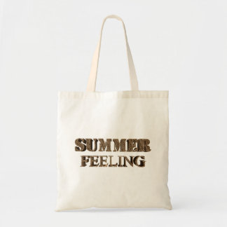 Summer Feeling Elegant Gold Look Typography Tote Bag