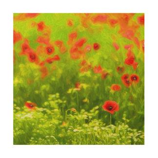 Summer Feelings - wonderful poppy flowers I Wood Print