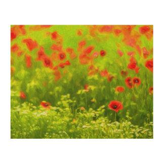 Summer Feelings - wonderful poppy flowers I Wood Wall Art