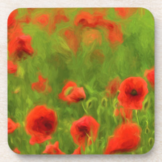 Summer Feelings - wonderful poppy flowers II Beverage Coaster