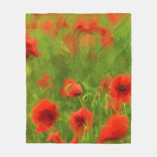 Summer Feelings - wonderful poppy flowers II Fleece Blanket