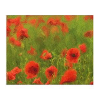 Summer Feelings - wonderful poppy flowers II Wood Wall Art