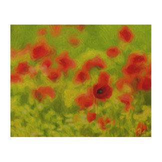 Summer Feelings - wonderful poppy flowers III Wood Wall Art