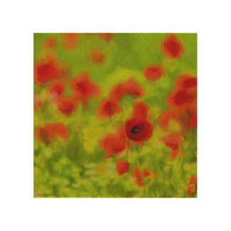 Summer Feelings - wonderful poppy flowers III Wood Wall Decor
