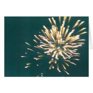 summer fireworks greeting card