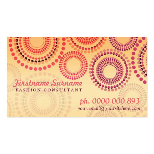 Summer Fireworks Fashion Retail Business Cards