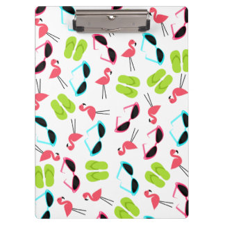 Summer Flamingos Pattern Clipboard
