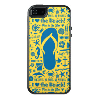 Summer Flip Flop Pattern OtterBox iPhone 5/5s/SE Case
