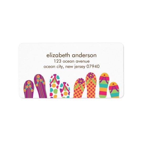 Summer Flip Flops Address Labels
