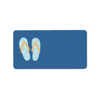 Summer FlipFlops 1 Address Label