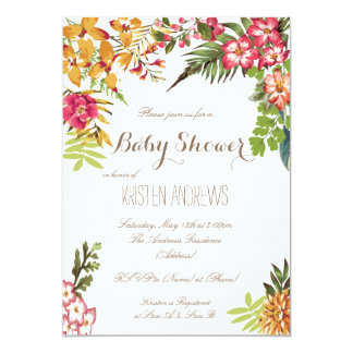 Summer Floral Baby Shower Invitation