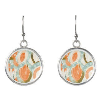Summer floral Classic beautiful earrings