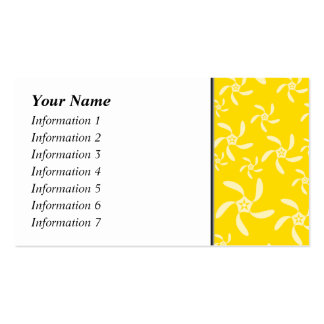 Summer Floral Design. Sunny Yellow. Pack Of Standard Business Cards