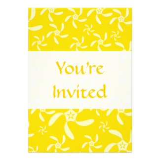Summer Floral Design. Sunny Yellow. Personalized Invitations