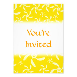 Summer Floral Design. Sunny Yellow. Personalized Invites
