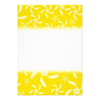Summer Floral Design. Sunny Yellow. Personalized Invite