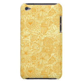 Summer floral pattern in warm colors iPod touch case