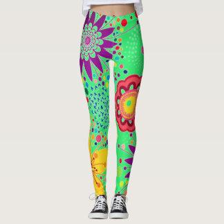 Summer Floral Pattern Leggings