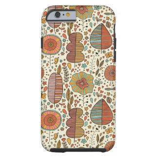 Summer floral pattern made of leaves tough iPhone 6 case