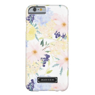 Summer Floral Pattern Personalized Barely There iPhone 6 Case