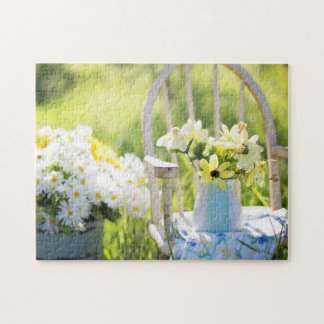 Summer Floral Rustic Still Life Jigsaw Puzzle