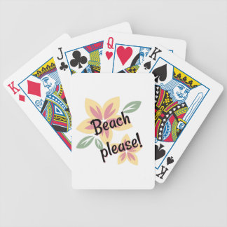 Summer Florals - Beach Please Bicycle Playing Cards