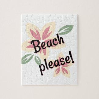 Summer Florals - Beach Please Jigsaw Puzzle