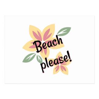 Summer Florals - Beach Please Postcard