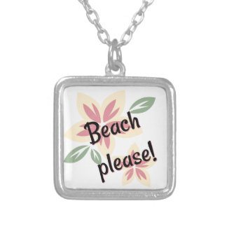 Summer Florals - Beach Please Silver Plated Necklace