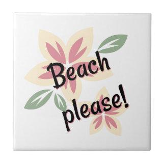 Summer Florals - Beach Please Tile