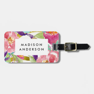 Summer Florals Luggage Tag
