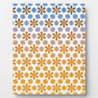 Summer Flower Field Pattern Plaque