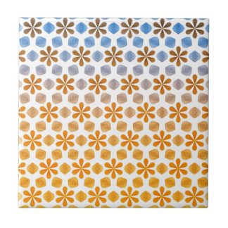 Summer Flower Field Pattern Small Square Tile
