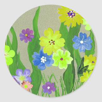 Summer flower garden sticker fun floral