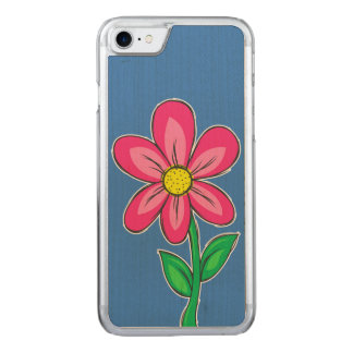 Summer Flower Illustration Carved iPhone 8/7 Case