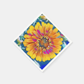 Summer Flower in Full Bloom Disposable Napkins