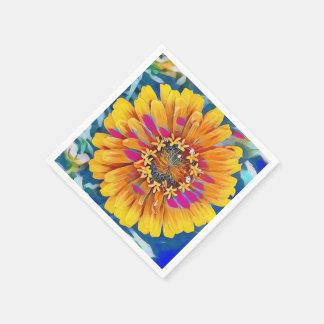 Summer Flower in Full Bloom Disposable Serviette