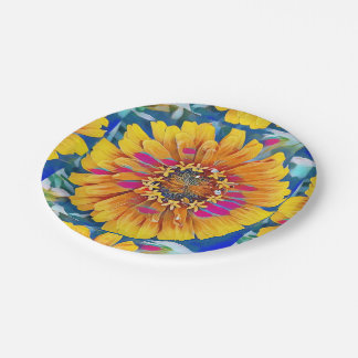 Summer Flower in Full Bloom Paper Plate