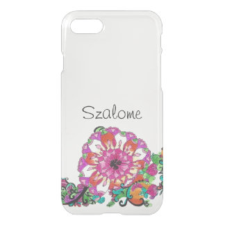 Summer Flower pattern iPhone 7 Clearly™ Deflector iPhone 7 Case