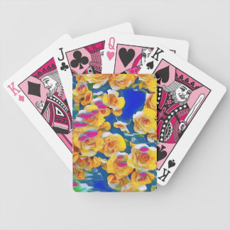 Summer Flower Pop Bicycle Playing Cards
