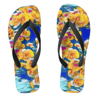 Summer Flower Pop (Flip Flops) Thongs